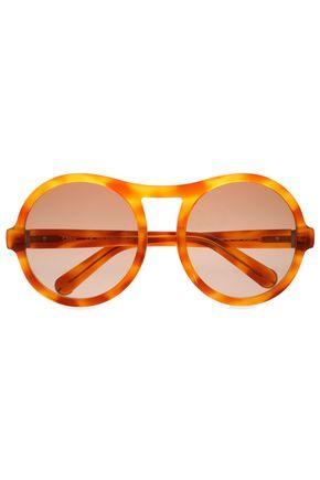 CHLOÉ Round-frame printed acetate sunglasses