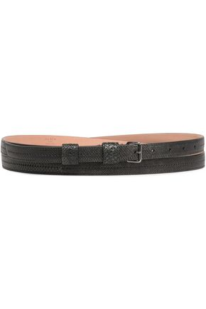 ALAÏA Lizard-effect leather belt