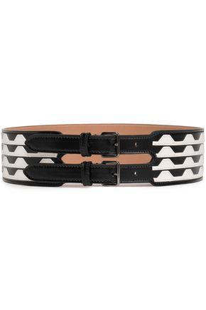 ALAÏA Two-tone leather belt