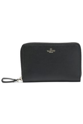 VALENTINO GARAVANI Textured-leather wallet