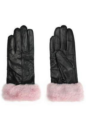 SURELL フェイクファートリム レザー 手袋