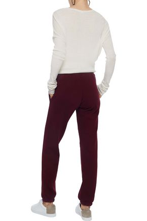 RE/DONE Embellished French cotton-terry track pants