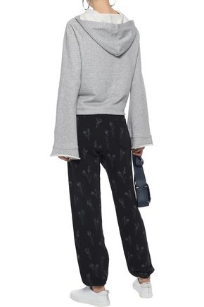 CURRENT/ELLIOTT The Collegiate floral-print French cotton-terry track pants