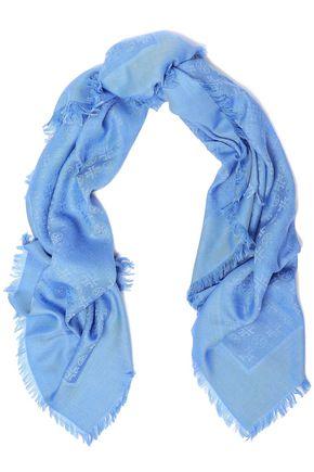 TORY BURCH ウール&シルク混ジャカード スカーフ
