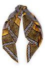 ROBERTO CAVALLI Printed silk-twill scarf