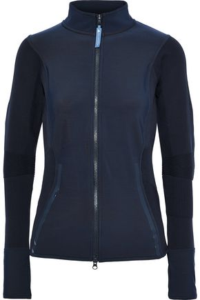 ADIDAS by STELLA McCARTNEY Paneled stretch-knit track jacket