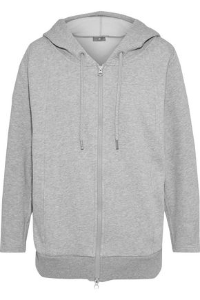 ADIDAS by STELLA McCARTNEY Ess mélange cotton-blend fleece hoodie