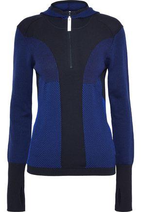 ADIDAS by STELLA McCARTNEY Paneled stretch-knit hooded jacket