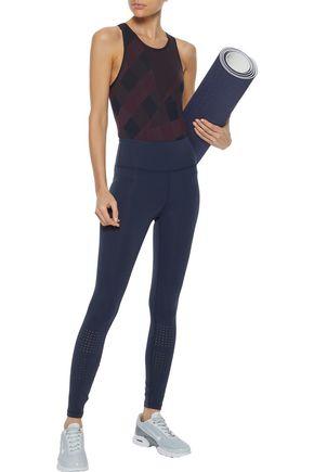 ADIDAS by STELLA McCARTNEY Seamless Training checked stretch bodysuit