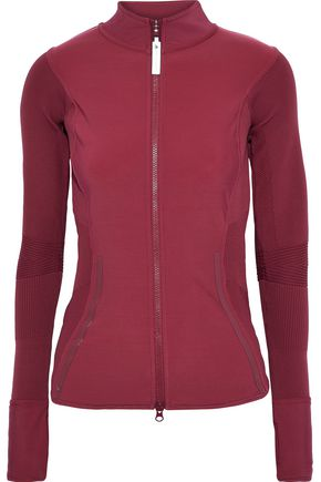 e1c87169a3 ADIDAS by STELLA McCARTNEY Run ribbed knit-paneled fleece track jacket