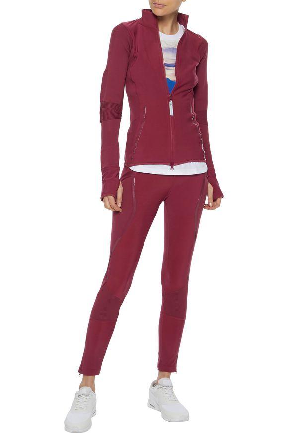 separation shoes 27954 1ba26 Run ribbed knit-paneled fleece track jacket   ADIDAS by STELLA ...