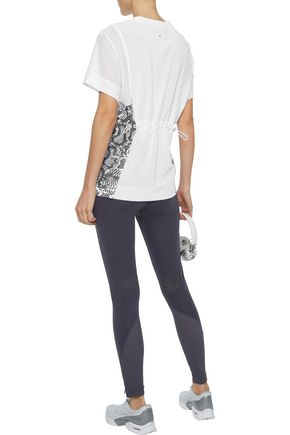 ADIDAS by STELLA McCARTNEY Run snake-print stretch-mesh T-shirt