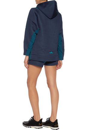 ADIDAS by STELLA McCARTNEY Ess French terry-paneled modal-neoprene hoodie
