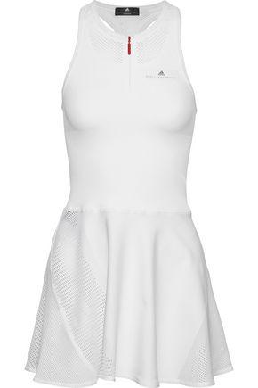 ADIDAS by STELLA McCARTNEY Barricade mesh-paneled cutout stretch mini dress and shorts set