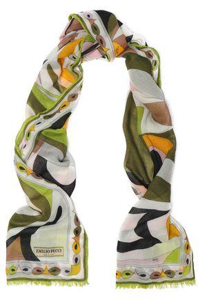 EMILIO PUCCI Printed cashmere scarf