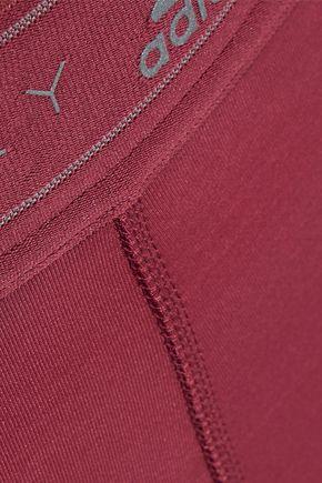 ADIDAS by STELLA McCARTNEY Run Knit paneled printed stretch leggings
