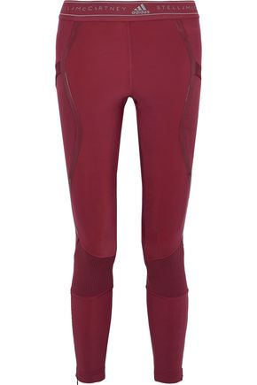 ADIDAS by STELLA McCARTNEY Run Knit paneled printed stretch leggings