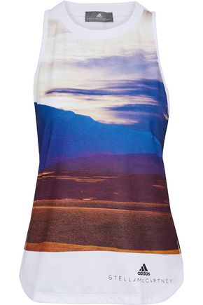 ADIDAS by STELLA McCARTNEY Ess printed stretch-jersey tank