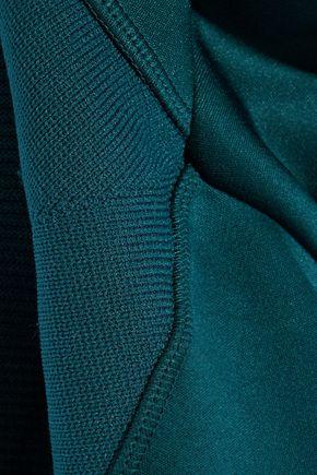 ADIDAS by STELLA McCARTNEY Paneled stretch-knit hooded track jacket