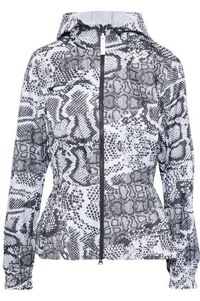 ADIDAS by STELLA McCARTNEY Printed shell hooded jacket