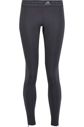 8acacd1138a ADIDAS by STELLA McCARTNEY Run Excel mesh-paneled perforated printed  stretch leggings