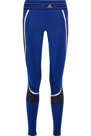 ADIDAS by STELLA McCARTNEY Run Climaheat zip-detailed printed stretch leggings