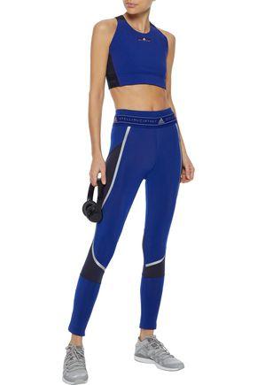 ADIDAS by STELLA McCARTNEY Run Climaheat zip-detailed printed stretch leggings