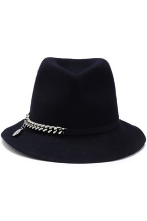 STELLA McCARTNEY Chain-embellished wool-felt fedora