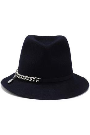 ステラ マッカートニー チェーン付き ウールフェルト ソフト帽