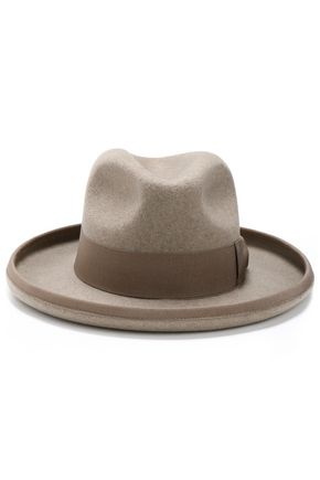 STELLA McCARTNEY Grosgrain-trimmed wool-felt fedora