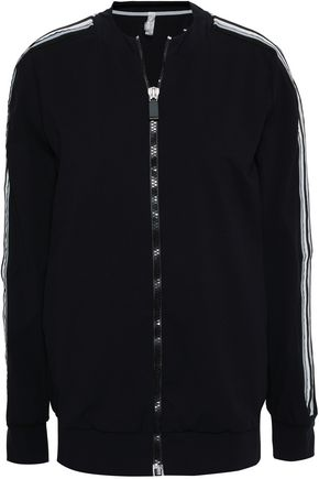 NO KA 'OI Grosgrain-trimmed stretch jacket
