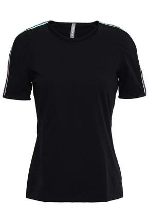 NO KA 'OI Metallic-trimmed jersey T-shirt