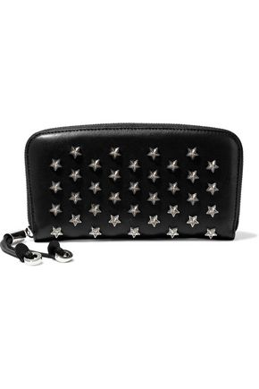 JIMMY CHOO Embellished leather continental wallet