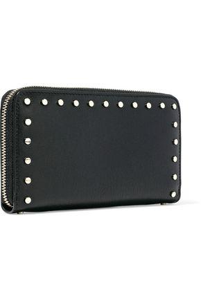 JIMMY CHOO Studded leather continental wallet
