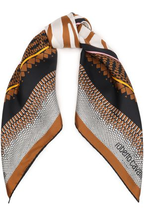 4472f428027b9 Printed silk-twill scarf | ROBERTO CAVALLI | Sale up to 70% off ...