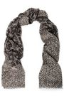 ROBERTO CAVALLI Metallic leopard-print modal-blend scarf