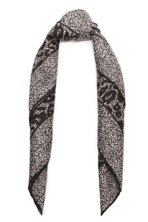 ロベルト カヴァッリ レオパードプリント シルクツイル スカーフ