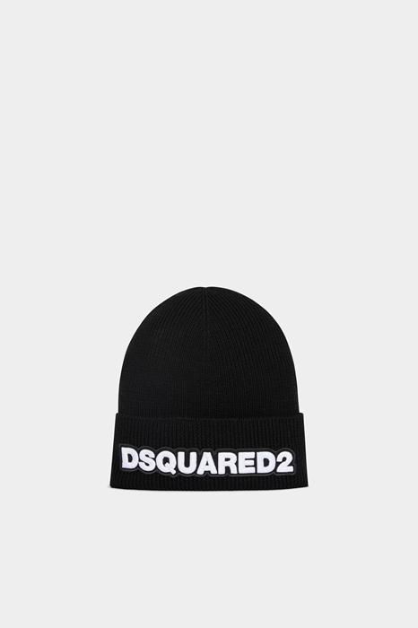 DSQUARED2 Homme Chapeau Noir Taille OneSize 100% Laine d'angora