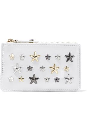 JIMMY CHOO Nancy embellished leather cardholder