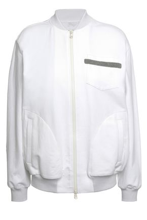 BRUNELLO CUCINELLI French cotton-blend terry bomber jacket