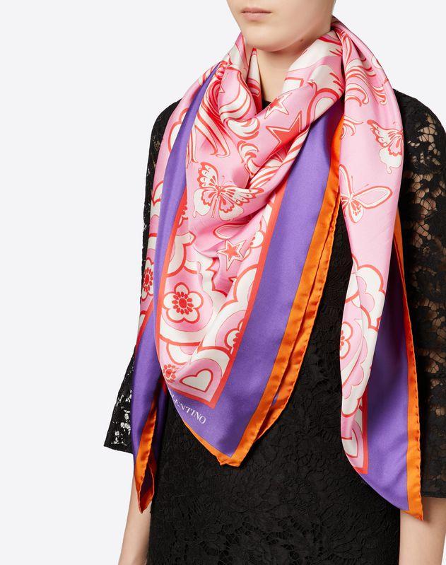 真丝斜纹方巾 140x140cm