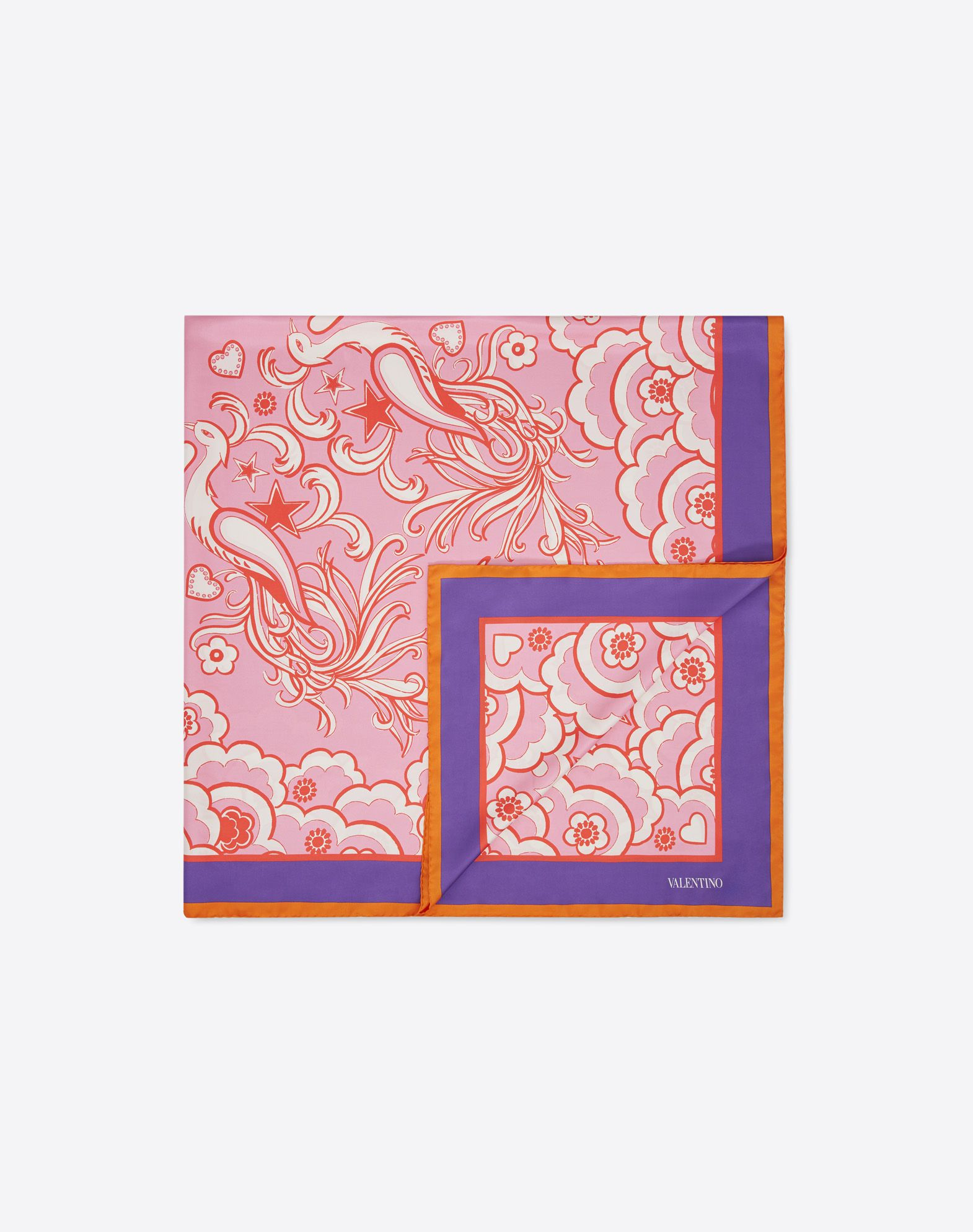 Silk Twill Shawl 140x140 cm