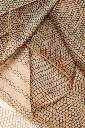 ROBERTO CAVALLI Printed silk-organza scarf