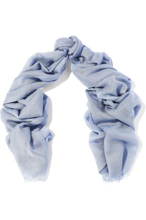BRUNELLO CUCINELLI Frayed cashmere and silk-blend scarf