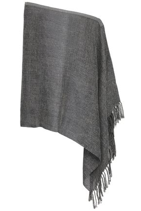 BRUNELLO CUCINELLI Tasseled bead-embellished metallic gauze wrap