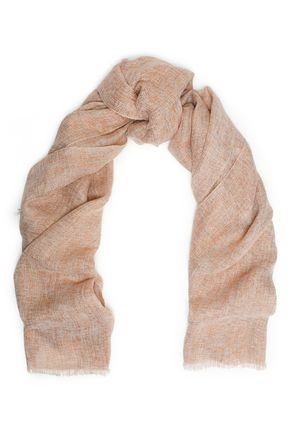 BRUNELLO CUCINELLI Frayed metallic gauze scarf