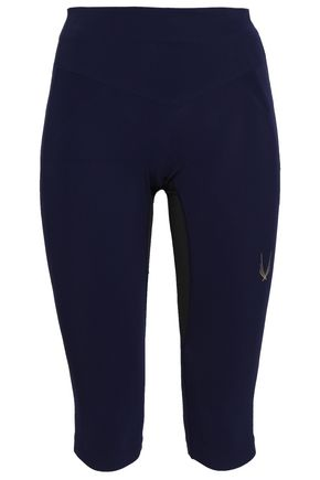 LUCAS HUGH Performance V2 cropped mesh-paneled stretch leggings