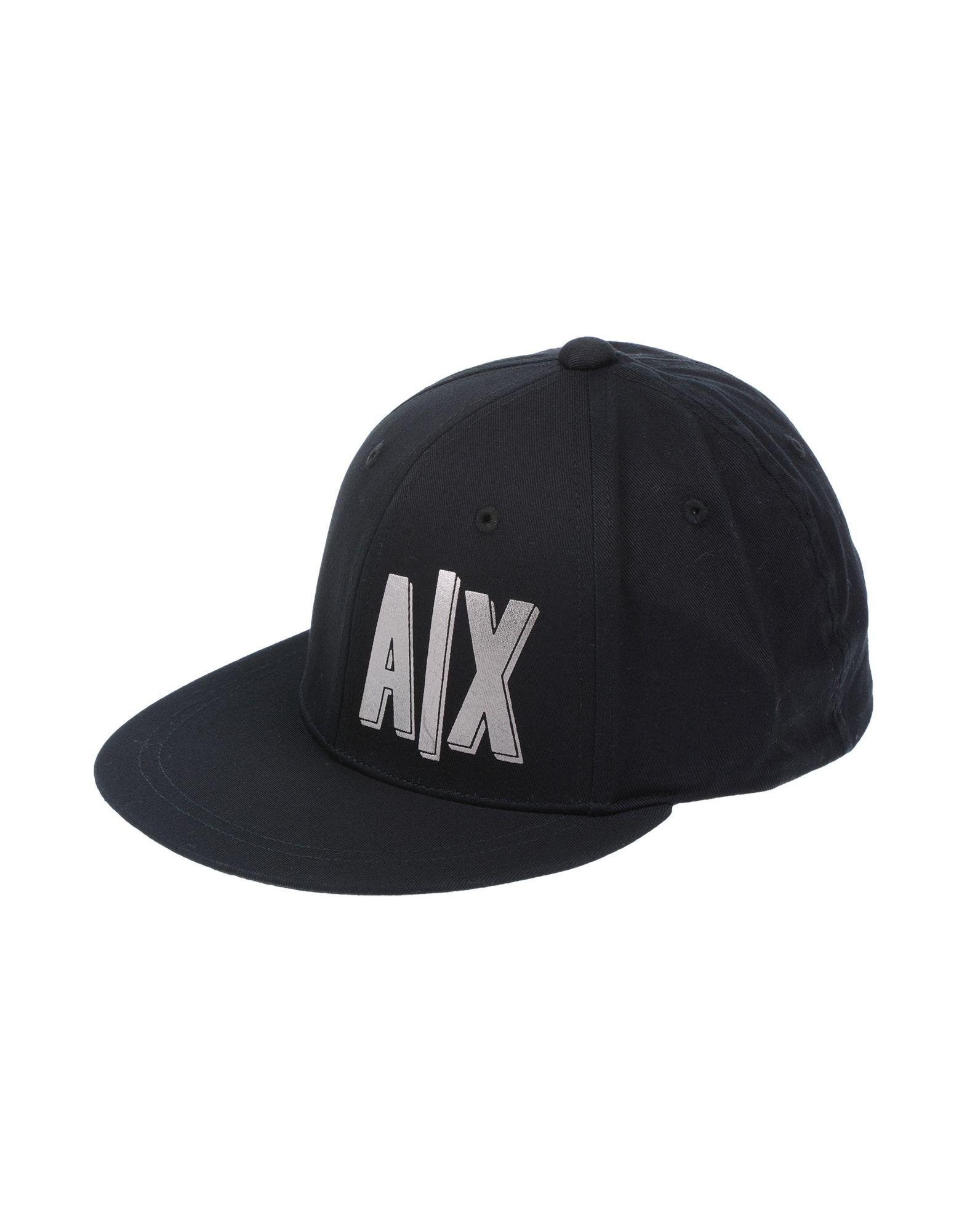 《セール開催中》ARMANI EXCHANGE メンズ 帽子 ブラック one size コットン 100%