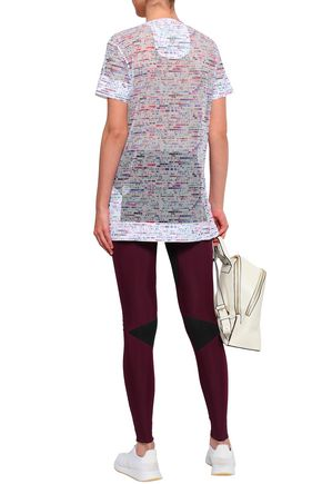 LUCAS HUGH Printed mesh T-shirt
