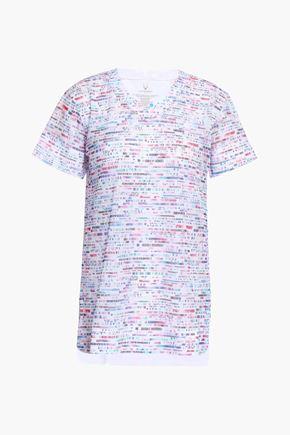 LUCAS HUGH プリント メッシュ Tシャツ